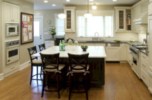 Fascinating kitchen islands ideas with seating and dining areas (29)
