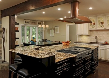 Fascinating kitchen islands ideas with seating and dining areas (38)