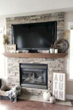 Gorgeous apartment fireplace decor ideas (1)