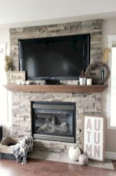 Gorgeous apartment fireplace decor ideas (1)