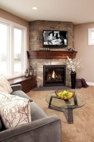 Gorgeous apartment fireplace decor ideas (12)
