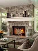 Gorgeous apartment fireplace decor ideas (16)