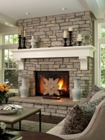 Gorgeous apartment fireplace decor ideas (16)