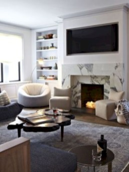 Gorgeous apartment fireplace decor ideas (18)