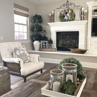 Gorgeous apartment fireplace decor ideas (21)