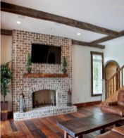 Gorgeous apartment fireplace decor ideas (27)