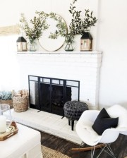 Gorgeous apartment fireplace decor ideas (29)