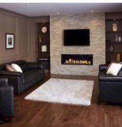 Gorgeous apartment fireplace decor ideas (36)