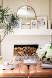 Gorgeous apartment fireplace decor ideas (39)