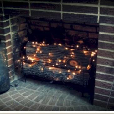 Gorgeous apartment fireplace decor ideas (48)