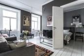 Inspiring grey studio apartment decor ideas on a budget (14)