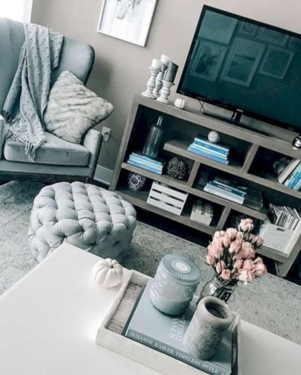 Inspiring grey studio apartment decor ideas on a budget (19)