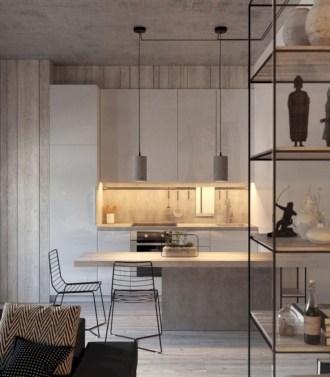 Inspiring grey studio apartment decor ideas on a budget (20)