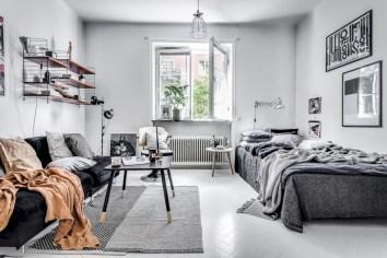 Inspiring grey studio apartment decor ideas on a budget (21)