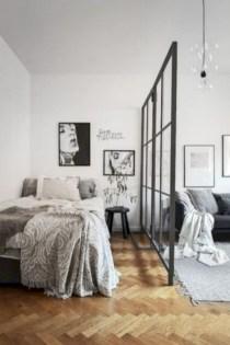 Inspiring grey studio apartment decor ideas on a budget (25)