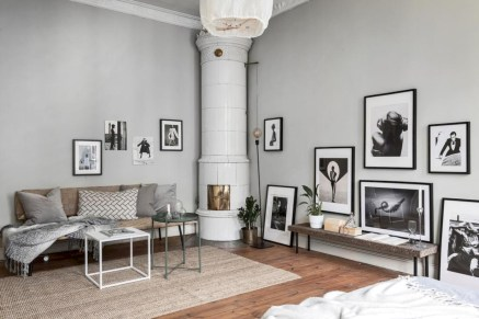 Inspiring grey studio apartment decor ideas on a budget (31)