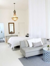 Inspiring grey studio apartment decor ideas on a budget (32)