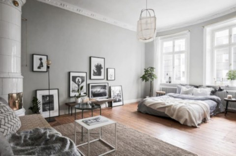 Inspiring grey studio apartment decor ideas on a budget (33)