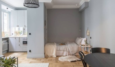 Inspiring grey studio apartment decor ideas on a budget (36)