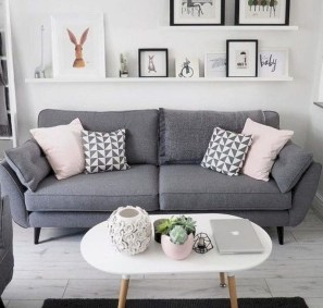Inspiring grey studio apartment decor ideas on a budget (46)