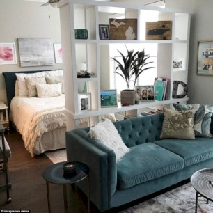 Inspiring grey studio apartment decor ideas on a budget (7)