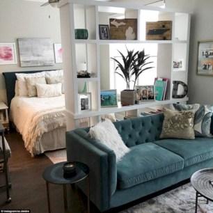 Inspiring grey studio apartment decor ideas on a budget (7)