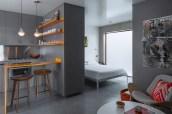 Inspiring grey studio apartment decor ideas on a budget (9)