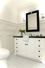 Luxury black and white bathroom design ideas 04