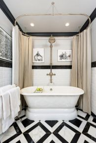 Luxury black and white bathroom design ideas 05