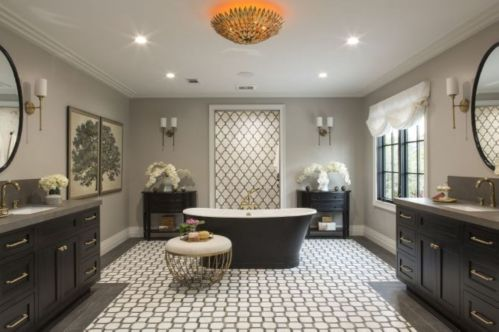 Luxury black and white bathroom design ideas 06