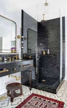 Luxury black and white bathroom design ideas 11