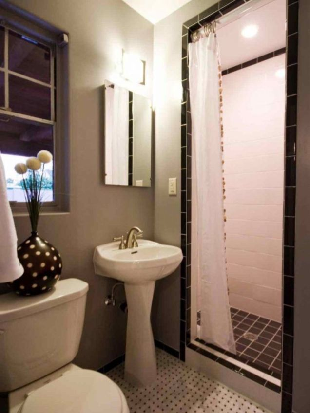 Luxury black and white bathroom design ideas 42