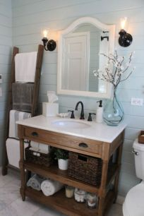 Modern farmhouse bathroom decor ideas (9)