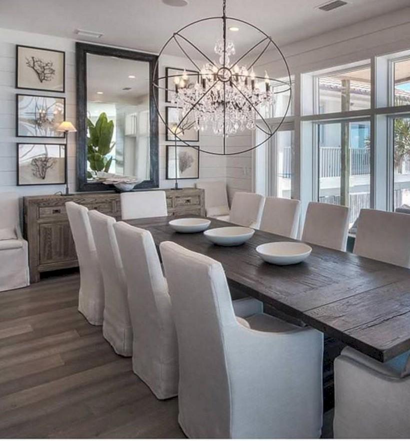 Modern Farmhouse Dining Room Decorating Ideas (24)