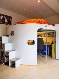 Nice loft bedroom design decor ideas 18