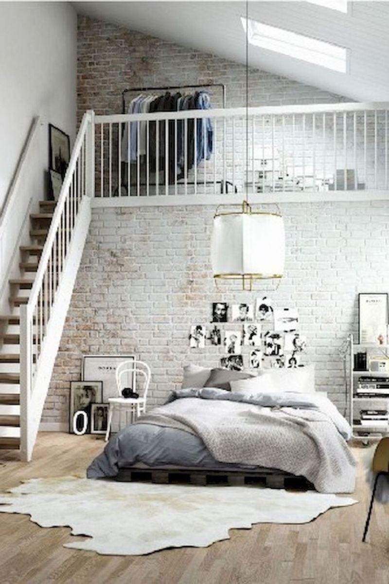 Nice loft bedroom design decor ideas 32