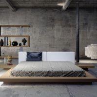 Nice loft bedroom design decor ideas 41