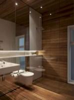 Simple and cozy farmhouse wooden bathroom inspirations ideas 03