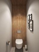 Simple and cozy farmhouse wooden bathroom inspirations ideas 36