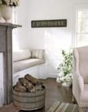 Simple and cozy farmhouse wooden bathroom inspirations ideas 42