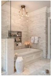 Stunning attic bathroom makeover ideas on a budget 35