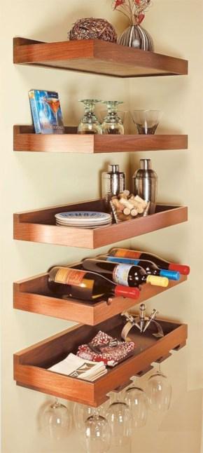 Stunning corner shelves decoration ideas 25