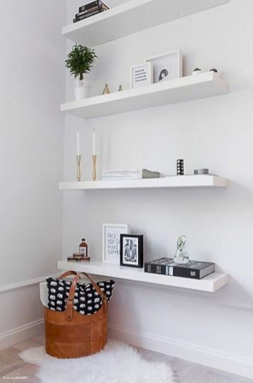 Stunning corner shelves decoration ideas 32