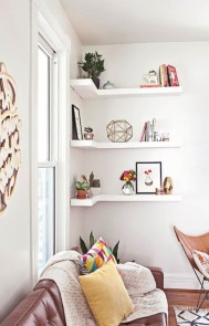 Stunning corner shelves decoration ideas 39