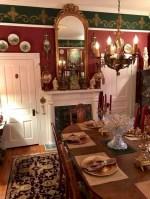 Vintage victorian dining room decor ideas (22)