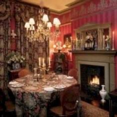 Vintage victorian dining room decor ideas (26)