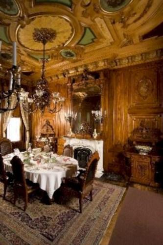 Vintage victorian dining room decor ideas (28)