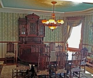 Vintage victorian dining room decor ideas (6)