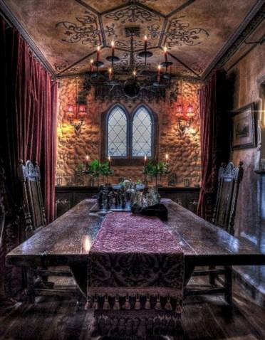 Vintage victorian dining room decor ideas (8)