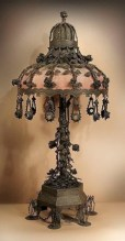 Vintage victorian lamp shades ideas for your bedroom (33)